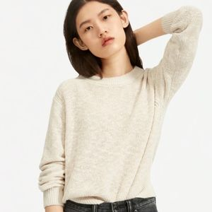 Everlane Cotton-Linen Crew Neck Sweater